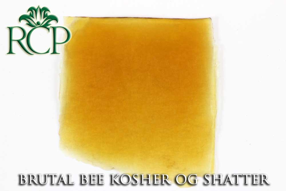 Sacramento Medical Marijuana Dispensary Cannabis Club Strain BRUTAL BEE KOSHER OG SHATTER