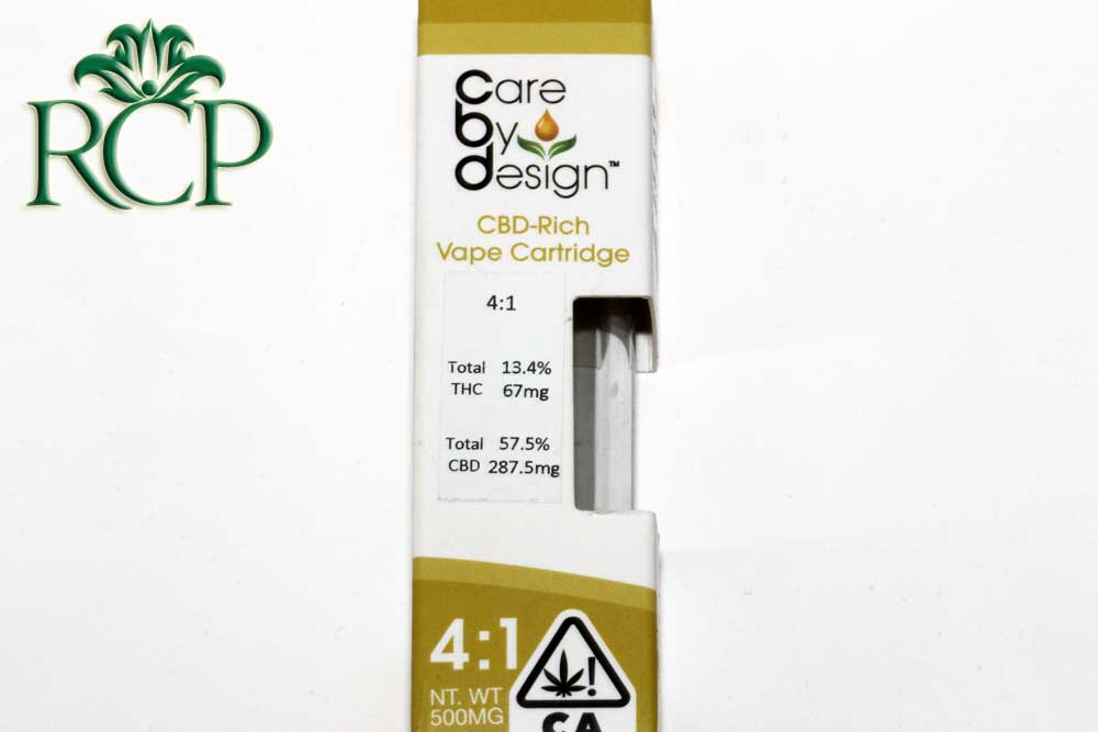 Sacramento Medical Marijuana Dispensary Cannabis Club Strain CARE BY DESIGN 4-1 CART .5G