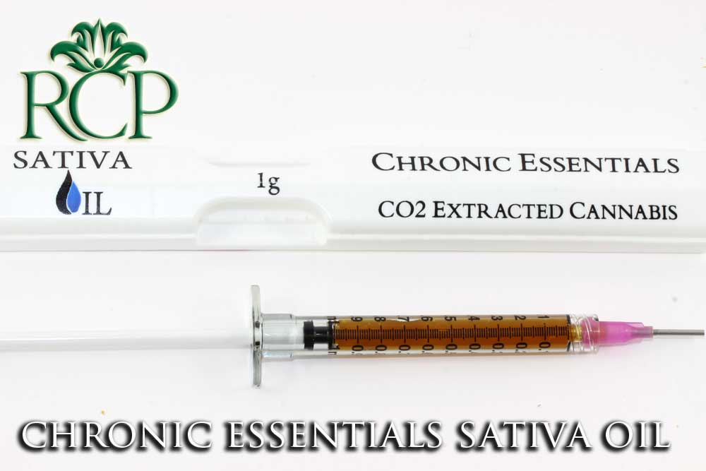 Sacramento MMJ Dispensary Strain CHRONIC ESSENTIALS SATIVA OIL