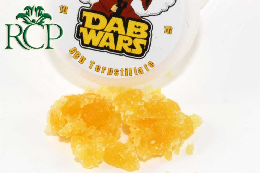 Sacramento Medical Marijuana Dispensary Cannabis Club Strain DAB WARS CBD TERPSTILLATE 1G
