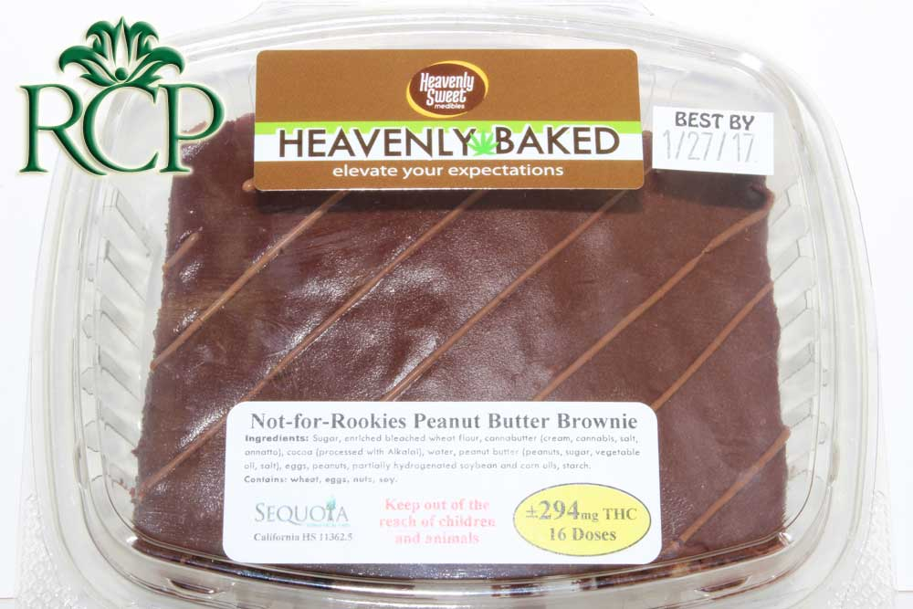 Sacramento Medical Marijuana Dispensary Cannabis Club Strain HIGH DOSE PB BROWNIE