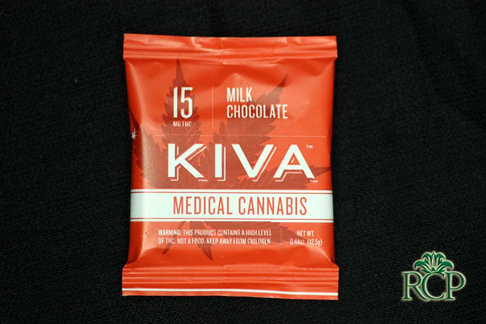 Sacramento Medical Marijuana Dispensary Cannabis Club Strain KIVA MILK CHOCOLATE SINGLE