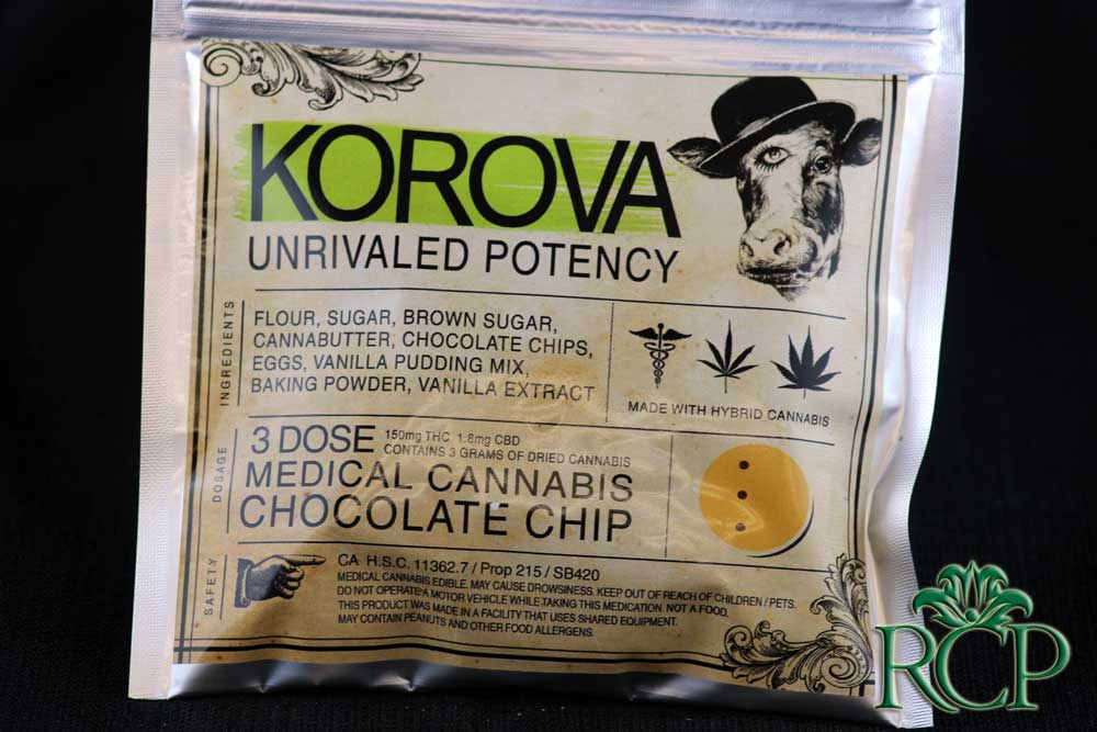 Sacramento MMJ Dispensary Strain KOROVA CHOCOLATE CHIP COOKIE