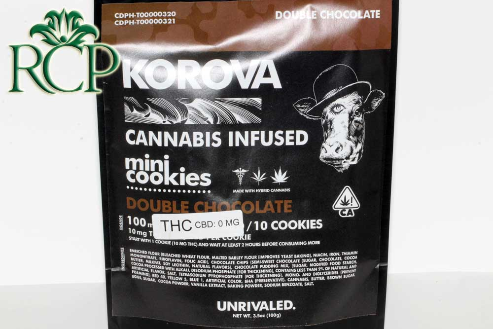 Sacramento Medical Marijuana Dispensary Cannabis Club Strain KOROVA DOUBLE CHOC MINI COOKIES