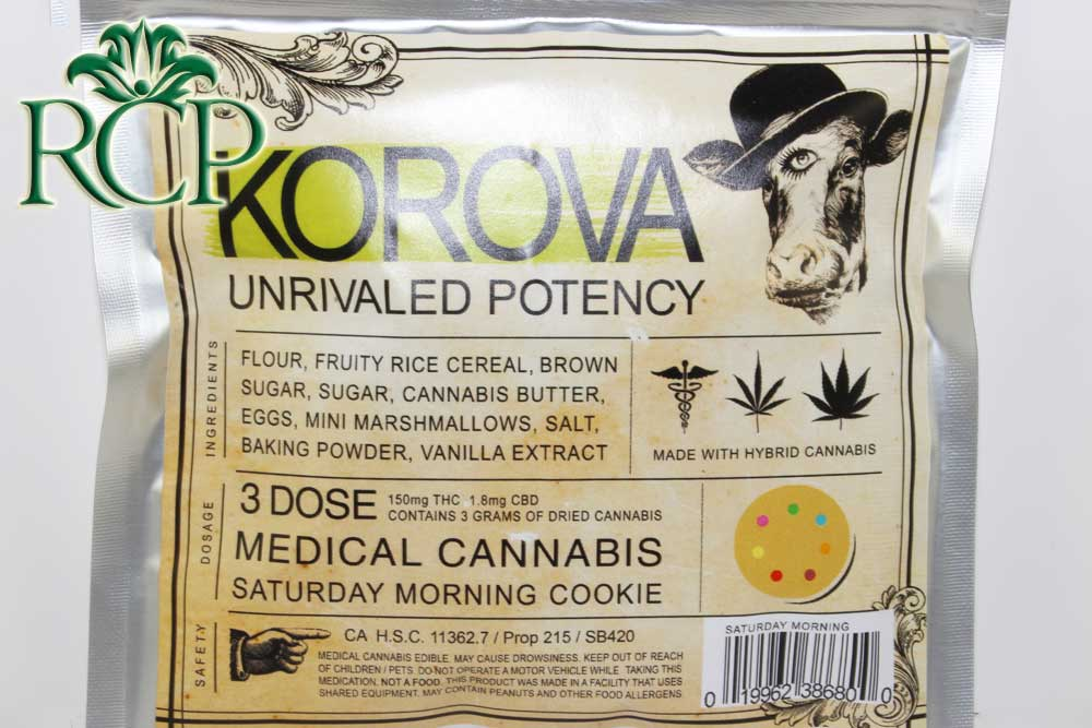 Sacramento MMJ Dispensary Strain KOROVA SATURDAY MORNING COOKIE