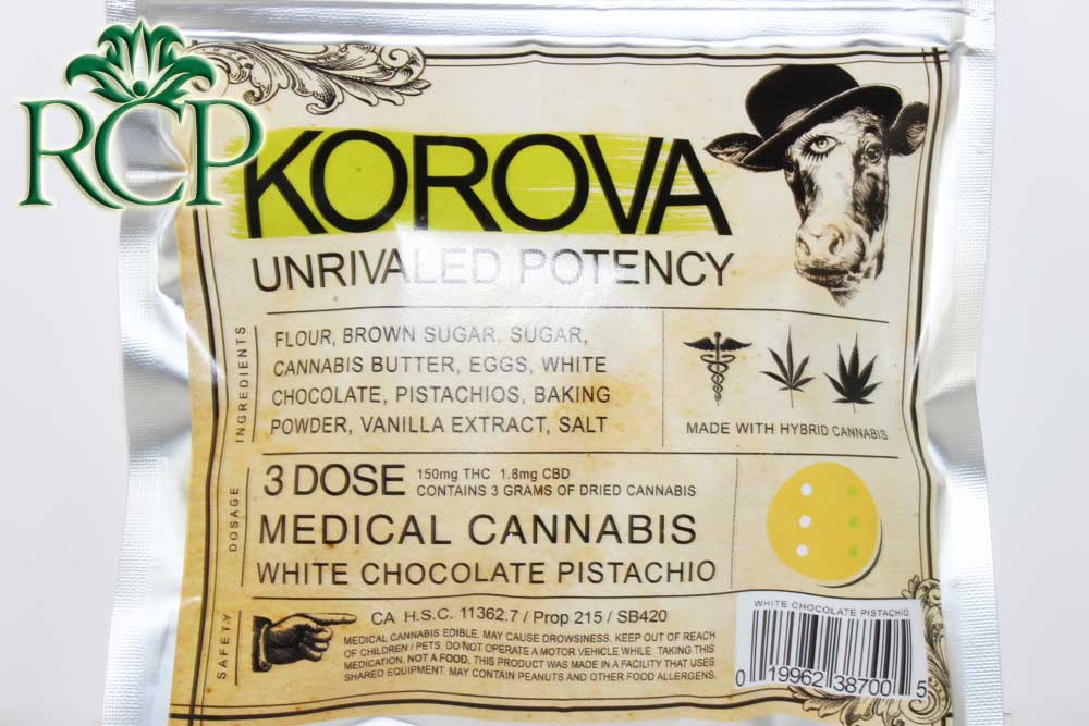 Sacramento MMJ Dispensary Strain KOROVA WHITE CHOCOLATE PISTACHIO COOKIE