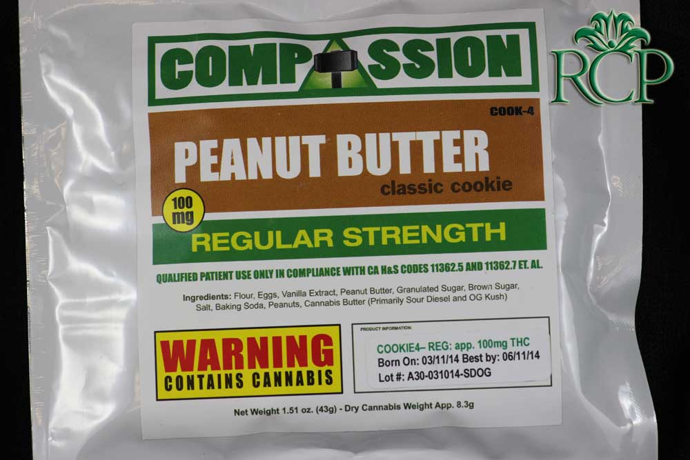 Sacramento Medical Marijuana Dispensary Cannabis Club Strain PEANUT BUTTER COOKIE