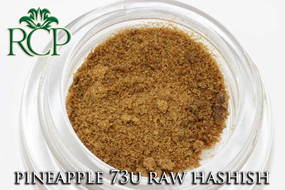 Sacramento Medical Marijuana Dispensary Cannabis Club Strain PINEAPPLE 73U RAW HASHISH