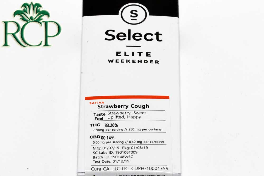 Sacramento Medical Marijuana Dispensary Cannabis Club Strain SELECT STRAWBERRY COUGH DISPOSABLE