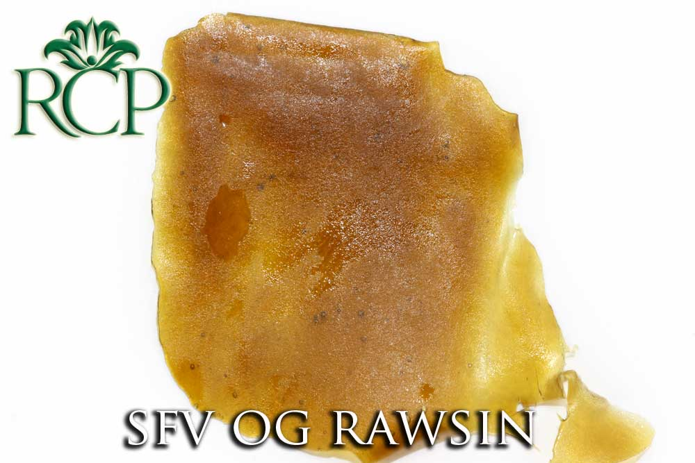 Sacramento Medical Marijuana Dispensary Cannabis Club Strain SFV OG RAWSIN .5G
