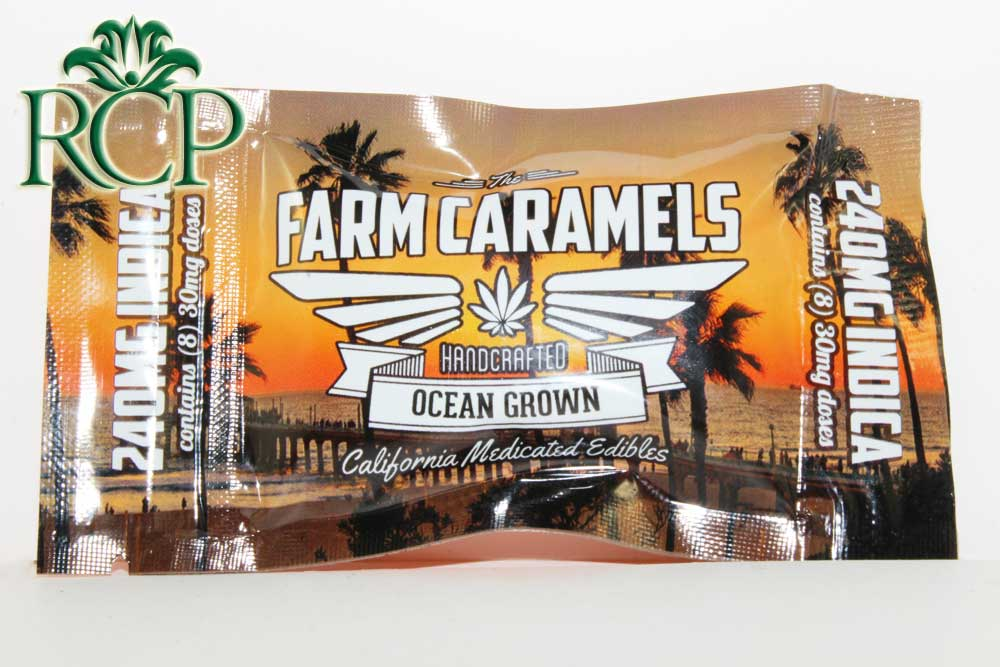 Sacramento Medical Marijuana Dispensary Cannabis Club Strain THE FARM CARAMELS INDICA 240MG