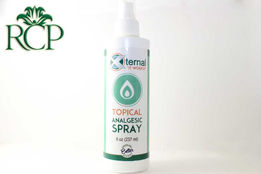 Sacramento Medical Marijuana Dispensary Cannabis Club Strain XTERNAL TOPICAL SPRAY 8OZ